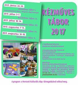 kézműves tábor plakát