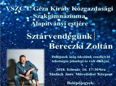 alapítványi est Bereczki Zoltán