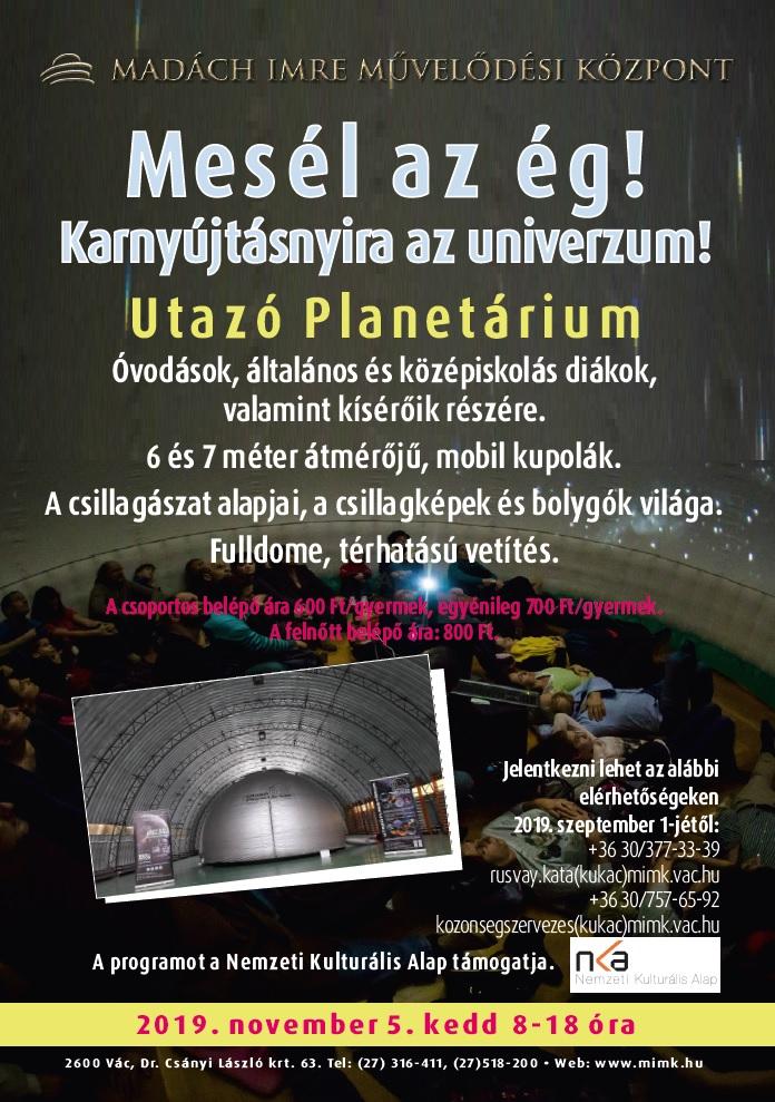 utazó planetárium plakát