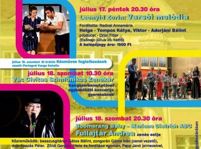 váci nyár 2020 - Pannonia Ház udvara